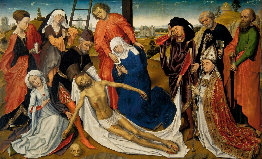 Rogier van der Weyden (en atelier), De bewening van Christus , c. 1460-1464, collectie Mauritshuis