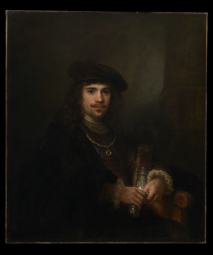 Rembrandt en atelier, Man met zwaard, ca. 1640-1644, New York, The Leiden Collection